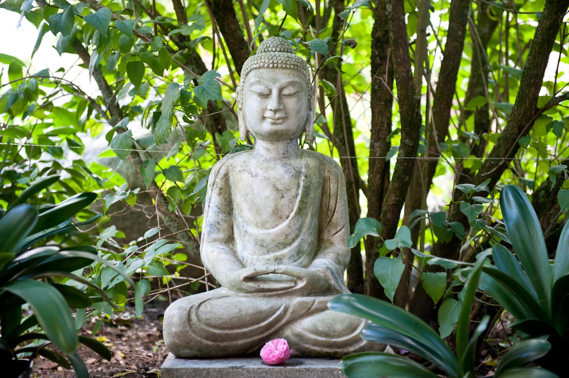 Buddha im Park