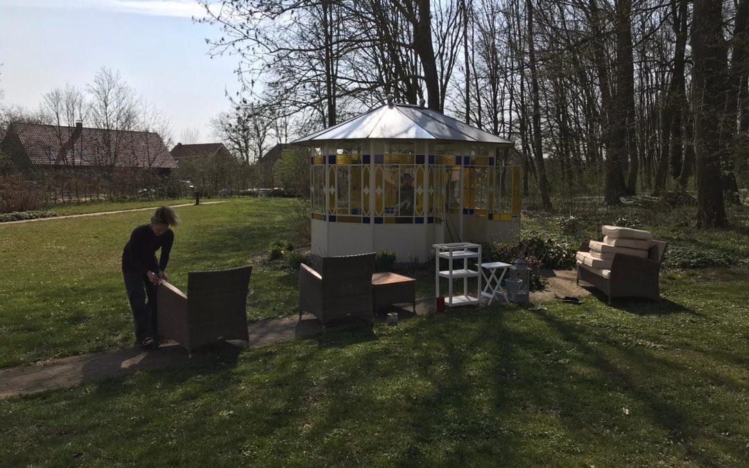 Großer Frühjahrsputz im Gutshaus und im Garten